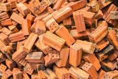 Red brick for construction Stock Images