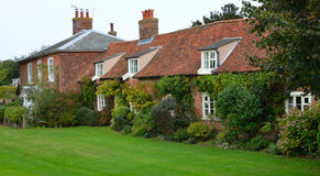 Red brick cottages at Orford Suffolk England. Royalty Free Stock Photography