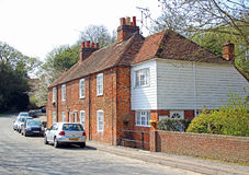 Red brick cottages in rural kent Royalty Free Stock Image
