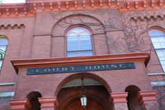 Red brick court house, from below, downtown Keene, New Hampshire Stock Images