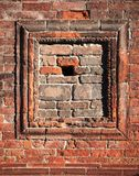 Red brick decoration background stock image
