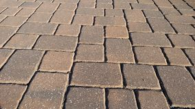 Red brick driveway Stock Photo