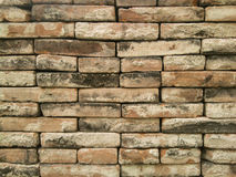Red brick dry wall background Royalty Free Stock Photography