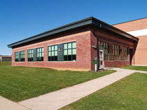 Red brick elementary school Stock Photography