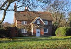 Red Brick  English Village House & Garden Royalty Free Stock Image