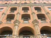 Red brick facade. Of The Ukraine Hotel (building of 1940's Royalty Free Stock Image
