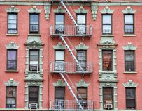Free Red Brick Facade, And Fire Stairs. Harlem, NYC Royalty Free Stock Image - 156657296