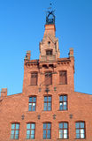 Red brick facade of the building Royalty Free Stock Photo