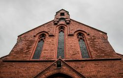 Red Brick Facade Stock Images