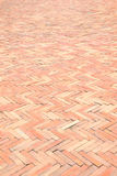 Red brick floor Royalty Free Stock Image