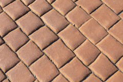 Red brick floor background Royalty Free Stock Photo