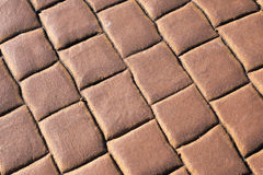 Red brick floor background Stock Photo