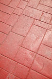 Red brick floor Stock Image