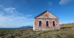 Free Red Brick Fog Signal Building At The Piedras Blancas Lighthouse On The Central California Coast Royalty Free Stock Image - 87836346