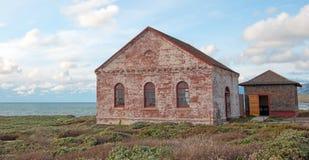 Free Red Brick Fog Signal Building At The Piedras Blancas Lighthouse On The Central California Coast Stock Photos - 87836443