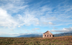Red Brick Fog Signal Building at the Piedras Blancas Lighthouse on the Central California Coast. USA Royalty Free Stock Image
