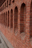 Red brick fortress wall Royalty Free Stock Photo