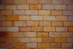 Red brick for a good commercial background. Red bricks used for brick wall good for background and grunge look Stock Image