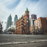 The red-brick Gooderham Building Stock Photo