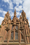 Red brick gothic cathedral Royalty Free Stock Photo