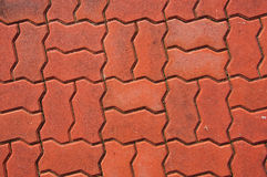Red brick on ground Stock Images