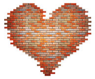 Red brick heart concept Stock Images