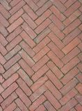Red Brick Herringbone Background Royalty Free Stock Photos