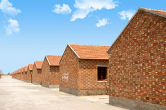 Red brick house stock images