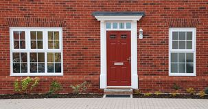 Red brick house Stock Photography