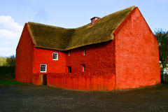 Red Brick House. A red brick house in cardiff, Wales stock photography