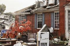 House damaged by disaster Stock Photography