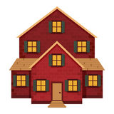 Red Brick House Stock Photo