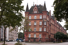 Red brick house Hamburg. One of old red brick houses in Hamburg Stock Image