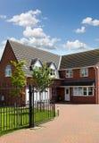 Red brick house UK Stock Photo