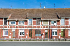 Red brick houses in France Stock Photography