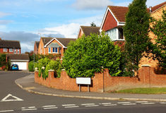 Red brick houses UK Stock Photos