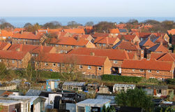 Red brick housing estate in England Royalty Free Stock Image