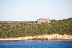 Red Brick Industrial Building on Coast of Canada Royalty Free Stock Photos