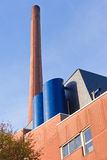 Red brick industrial chimney Royalty Free Stock Image