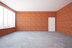 Red brick interior Royalty Free Stock Images