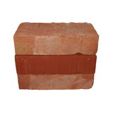 Red brick isolated on white Stock Photo