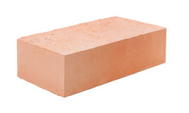 A red brick isolated on white background Royalty Free Stock Photos