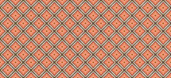 Red brick laid a square pattern with cutaways. Red brick laid a square pattern with a gold rim cutaways Royalty Free Stock Images