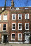 Red brick large london victorian  townhouse. Red brick large london  townhouse Stock Photos