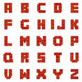 Red Brick Letters stock illustration
