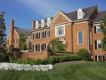 Red Brick Mansion Stock Images
