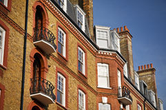 Red Brick Mansion, London. A newly renovated typical mansion building in London stock image