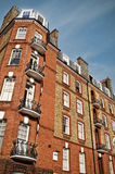 Red Brick Mansion, London. Top of a mansion building in West-London, Kensington royalty free stock image