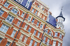 Red Brick Mansion, London. Top of a mansion building in West-London, Kensington royalty free stock photo