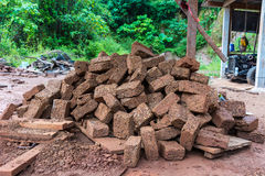 Red brick material for building brick wall to the industry Stock Photography